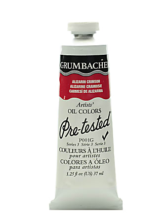 Grumbacher P001 Pre-Tested Artists' Oil Colors, 1.25 Oz, Alizarin Crimson, Pack Of 2