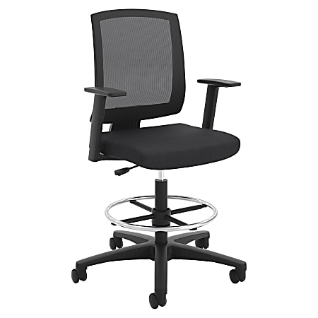 HON® Torch Mesh Mid-Back Task Stool, Black Seat, Quantity: 1