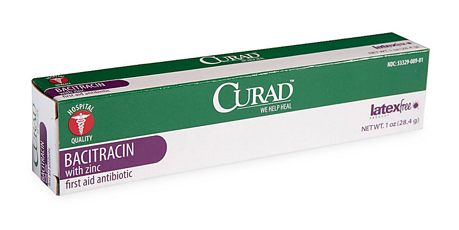 CURAD® Bacitracin Ointment With Zinc, 1 Oz Tubes, Pack Of 12