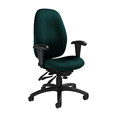 "Global® Malaga Multi-Tilter Chair, High-Back, 41""H x 26""W x 25""D, Spruce/Black"