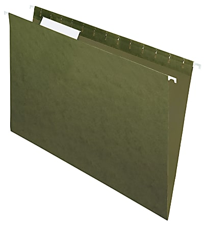 Office Depot® Brand Hanging Folders, 1/3 Cut, Legal Size, 100% Recycled, Green, Pack Of 25