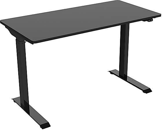"FlexiSpot Vici 48""W Quick-Install Height-Adjustable Desk, Black"