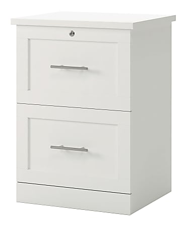 """Realspace® 2-Drawer 17""""D Vertical File Cabinet, White"""