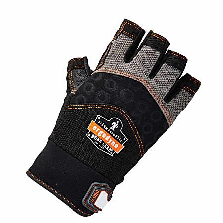 Ergodyne ProFlex 900 Half-Finger Impact Gloves, Medium, Black