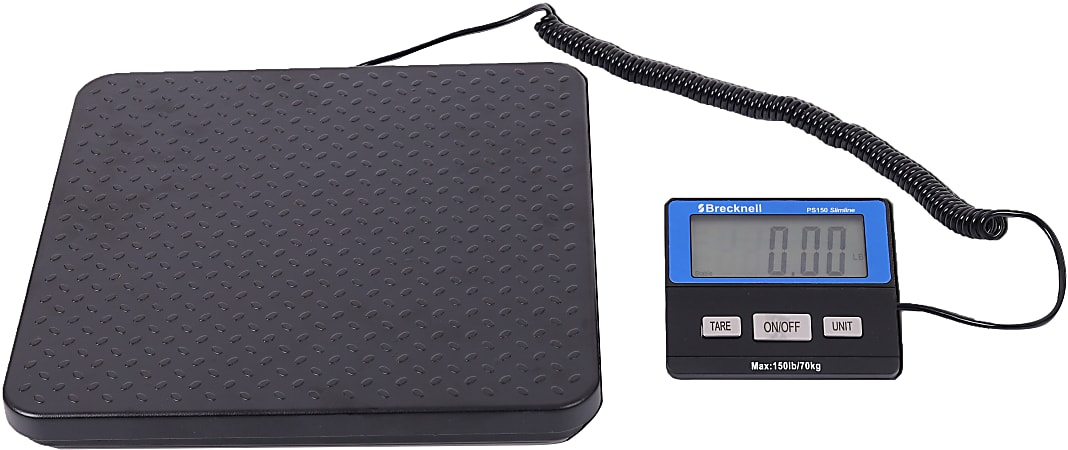 Brecknell® PS150 Slimline Portable Digital Shipping Scale, 150-Lb/70Kg Capacity