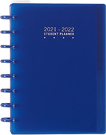 TUL® Discbound Weekly/Monthly Student Planner, Junior Size, Blue, July 2021 To June 2022