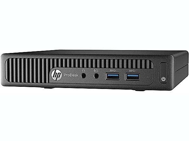 HP ProDesk 400G2 Mini Refurbished Desktop PC, Intel® Core™ i5, 16GB Memory, 256GB Solid State Drive, Windows® 10 Pro, RF610664