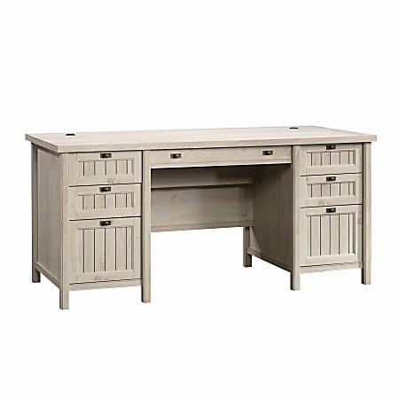 Sauder® Costa Executive Desk, Chalked Chestnut