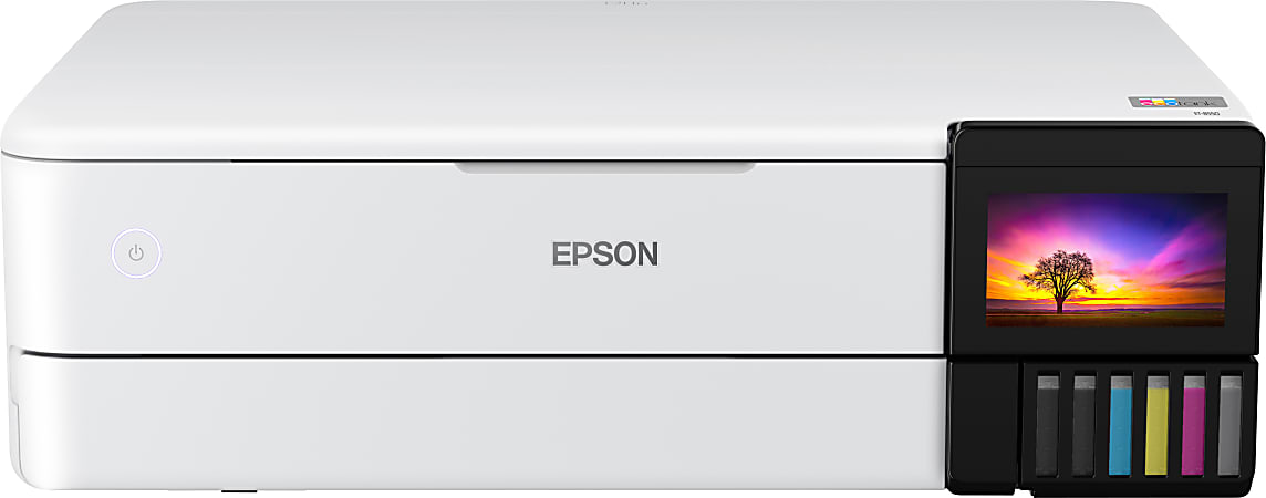 Epson® EcoTank® Photo ET-8550 SuperTank® Wireless Color Inkjet All-In-One Printer