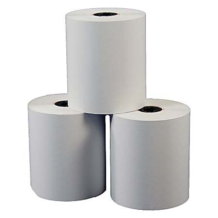 """Single-Ply Thermal Paper Rolls Without BPA, 3 1/8"""" x 230', White, Pack Of 10 Rolls"""
