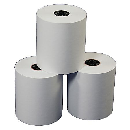 """Office Depot® Brand Calculator Print Rolls, 3"""" x 150', 30% Recycled , White, Carton Of 50"""