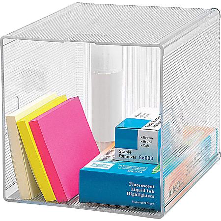 "Business Source Clear Cube Storage Cube Organizer - 6"" Height x 6"" Width x 6"" Depth - Desktop - Clear - 1 Each"