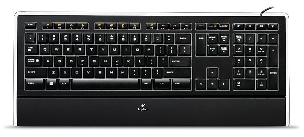 Logitech® K740 Illuminated Keyboard, Black