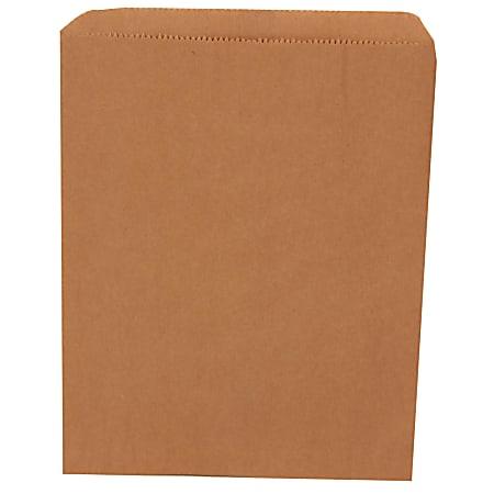 """JAM Paper® Medium Merchandise Bags, 8-1/2"""" x 11"""", Dark Brown Kraft, Pack Of 1,000 Bags"""