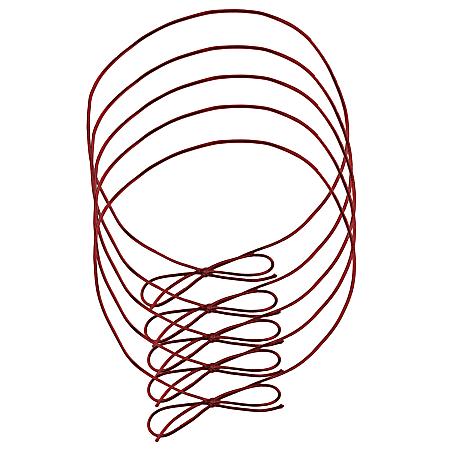 "JAM Paper® Small Elastic Gift Wrap String Ties, 10"", Red, Pack Of 5 Ties"