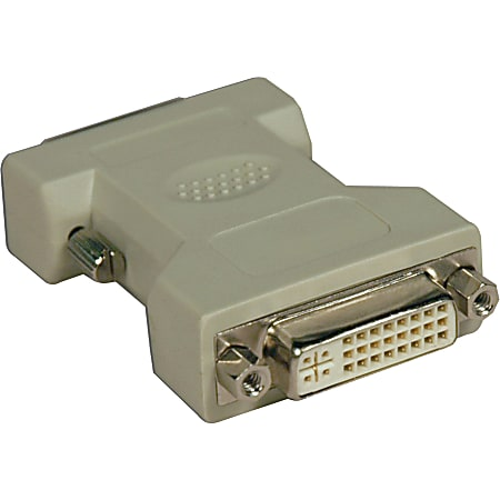 Tripp Lite DVI-I to DVI-D Dual Link Video Cable Adapter (F/M) - 1 x DVI-D Male Digital Video - 1 x DVI-I Female Video - Gold Contact - Beige