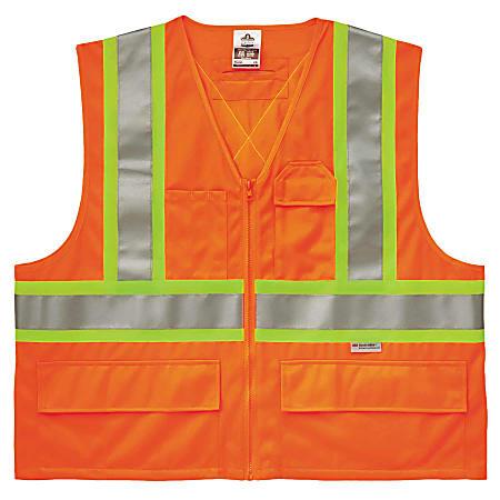 Ergodyne GloWear® Safety Vest, 2-Tone X-Back 8235ZX, Type R Class 2, Small/Medium, Orange