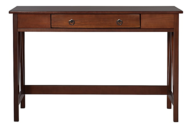Linon Home Decor Products Rockport Home Office Desk, Antique Tobacco