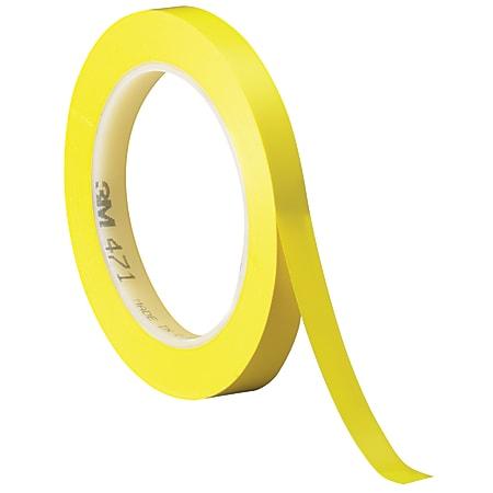 "3M™ 471 Vinyl Tape, 3"" Core, 0.25"" x 36 Yd., Yellow, Case Of 144"