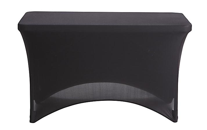 "Iceberg Fabric Table Cover, 24"" x 48"", Black"