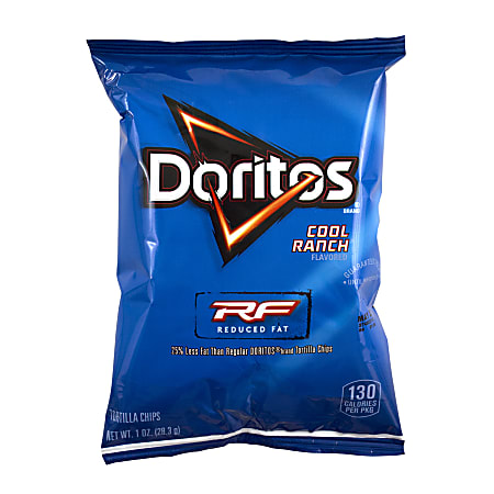 Doritos Reduced Fat Cool Ranch Chips, 1 Oz, Pack Of 72