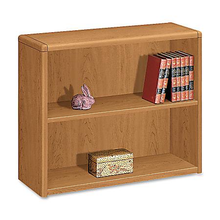 HON® 10700 Series™ Prestigious Laminate 2-Shelf Bookcase, Harvest Cherry