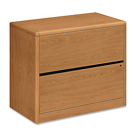 """HON® 10700 36""""W Lateral 2-Drawer File Cabinet, Harvest Cherry"""