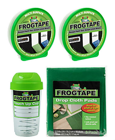 """Duck® Brand FrogTape Medium Paint Project Prep Pack, 0.94"""" x 60 Yd"""