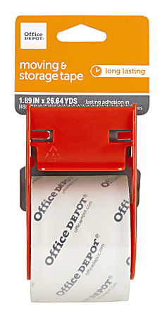 """Office Depot® Brand Moving & Storage Packing Tape With Dispenser, 1.89"""" x 26.64 Yd, Crystal Clear"""
