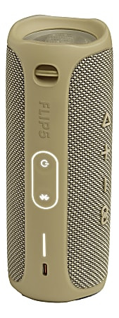 JBL Flip 5 Portable Waterproof Speaker, Sand, JBLFLIP5SANDAM-Q