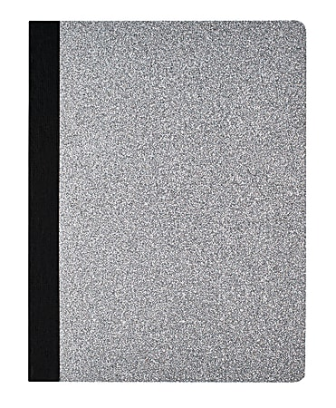 Divoga® Composition Notebook, Glitter Collection, Wide Ruled, 160 Pages (80 Sheets), Silver