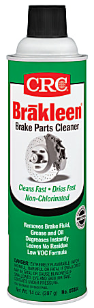 CRC Brakleen® Non-Chlorinated Less 45% VOC Brake Parts Cleaner, 14 Oz Can, Case Of 12