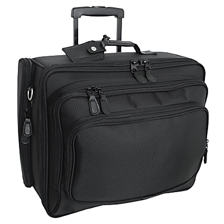 """Mercury Tactical Gear Wheeled Computer Bag With 17"""" Laptop Pocket, Black"""