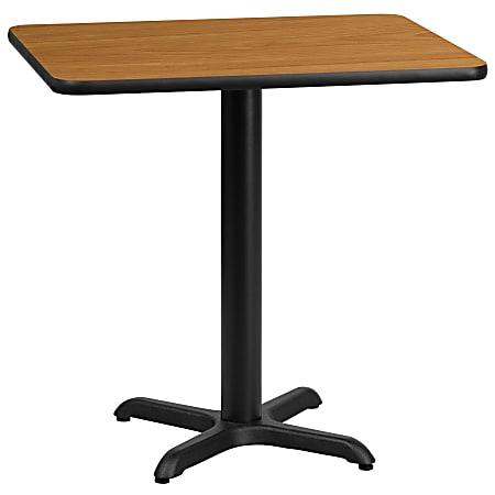 "Flash Furniture Rectangular Laminate Table, 31-3/16""H x 24""W x 30""D, Black/Natural"