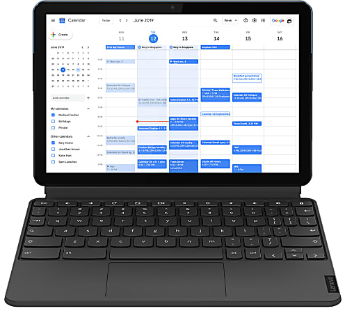 "Lenovo® IdeaPadDuet Chromebook, 10.1"" Touch Screen, MediaTek Helio P60T, 4GB Memory, 64GB eMCP Storage, Chrome OS, ZA6F0031US"