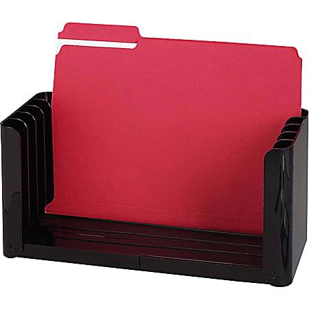 "Sparco The Folder Holder - 5 Compartment(s) - 6.1"" Height x 15.5"" Width x 5.4"" Depth - Desktop - Ebony - 1Each"