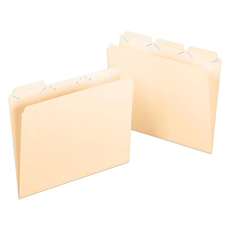 Pendaflex® Ready-Tab® Reinforced File Folders, 1/3 Cut, Assorted, Letter, Manila, Pack Of 50