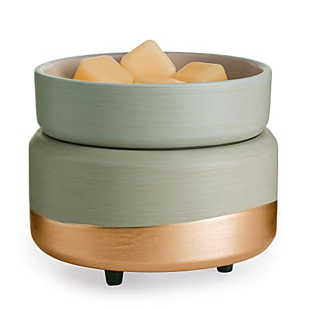 Candle Warmers Etc 2-In-1 Classic Fragrance Warmer, Midas