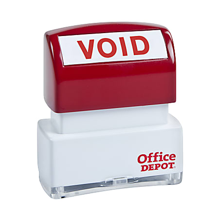 """Office Depot® Brand Pre-Inked Message Stamp, """"Void"""", Red"""