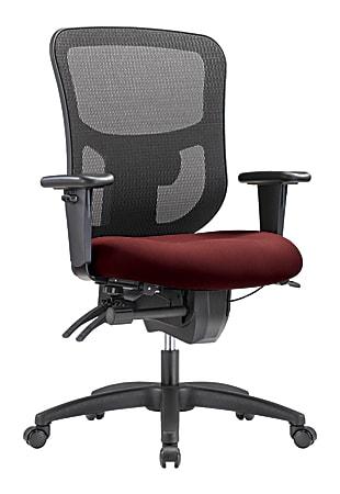 WorkPro® 9500XL Series Ergonomic Mesh/Premium Fabric Mid-Back Big & Tall Chair, Black/Burgandy