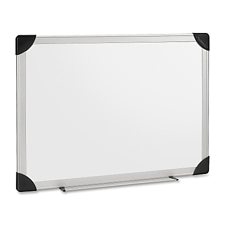 "Lorell® Non-Magnetic Dry-Erase Whiteboard, 48"" x 36"", Aluminum Frame With Silver Finish"