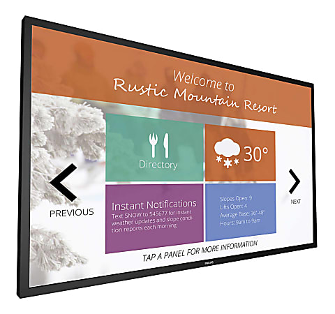 """Philips Signage Solutions Multi-Touch FHD LED Monitor, 42.5"""", VESA Mount, 43BDL4051T"""