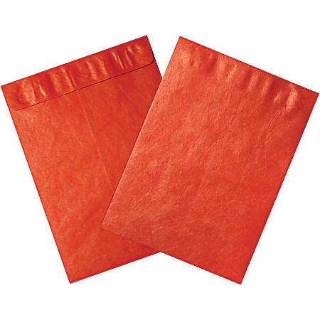 """Office Depot® Brand Tyvek® Envelopes, 12"""" x 15"""", Red, Pack Of 100"""