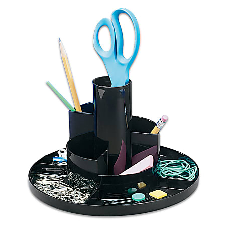Office Depot® Brand Rotary Desk Organizer, Black