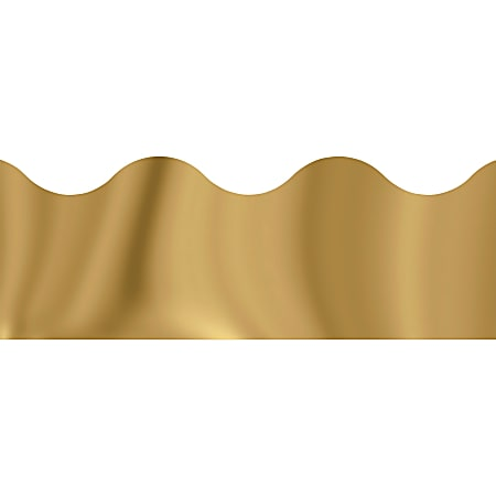 """Trend solid-colored Terrific Trimmers - Reusable, Precut - 2.25"""" Width x 390"""" Length - Gold - 12 / Pack"""