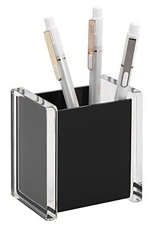 Realspace® Black Acrylic Pencil Cup