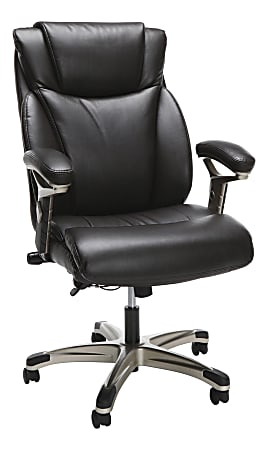 OFM Essentials Bonded Leather High-Back Chair, Brown/Black