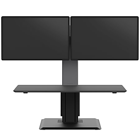 WorkPro® Perform Desk Riser By Humanscale, Dual Monitor, Black