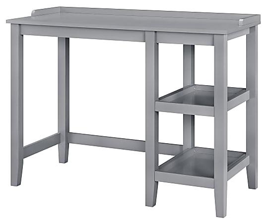 Ameriwood™ Home Eleanor Single Pedestal Desk, Gray