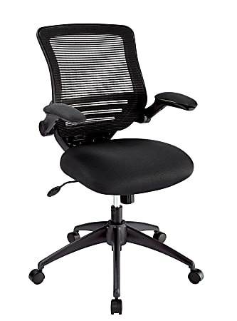 Realspace® Calusa Mesh Mid-Back Manager's Chair, Black